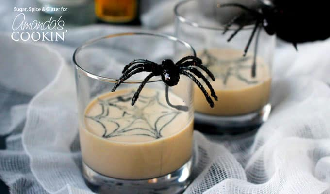 Your Halloween party guests will love when you serve them this unique spiderweb cocktail. Decorate their martini with a spiderweb for delicious spooky fun!