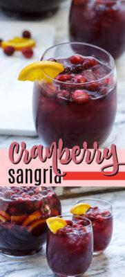 cranberry sangria pin image