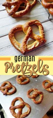 homemade german pretzels pin image