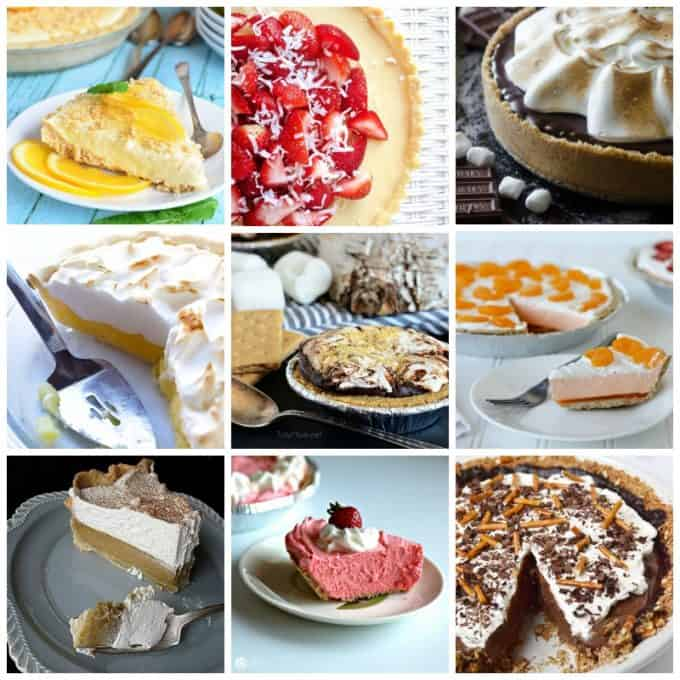 An assortment of photos of pies.