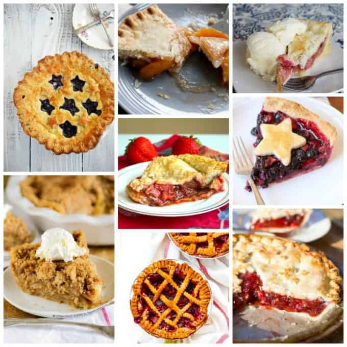 Several pictures of pies.