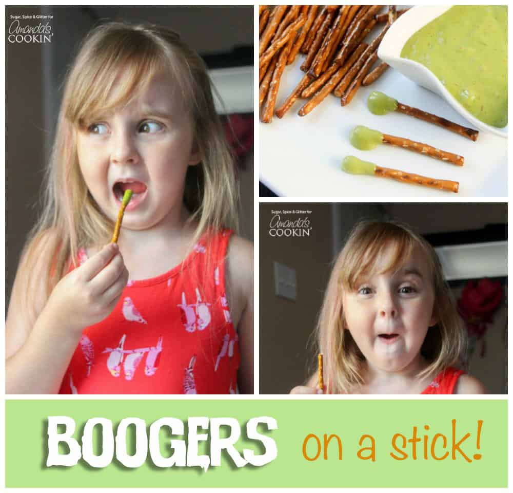 "If you love Halloween, you know that part of the fun is the ""trick"" in trick-or-treat. Trick your friends with these edible boogers on a stick this year!"
