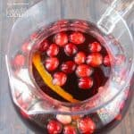 Looking for a great holiday adult beverage? Serve this cranberry sangria to your guests and they will be asking for the recipe and for seconds!