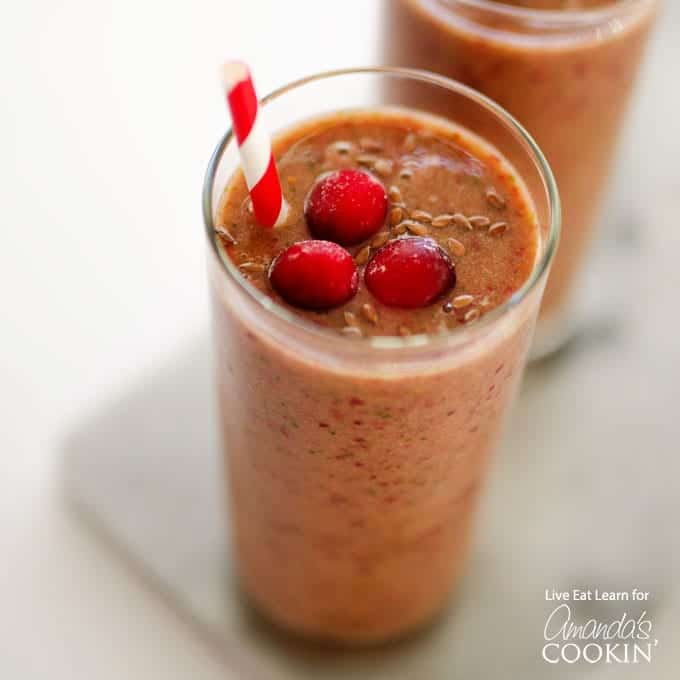 If you love smoothies, you'll want to add this cranberry smoothie to your list. Pull out the blender and make some of these for guests during the holidays!