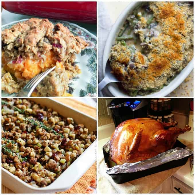 Photos of recipes for Thanksgiving.