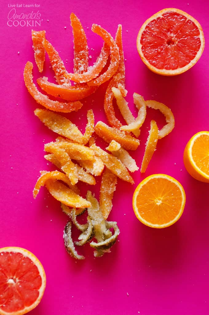 Turn orange peel, grapefruit, lemon and lime peel into delicious candy with this candied citrus peel recipe. I've always loved candied orange peel!