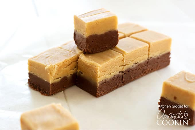 Make this homemade chocolate peanut butter fudge for the holidays, perfect for gift giving!