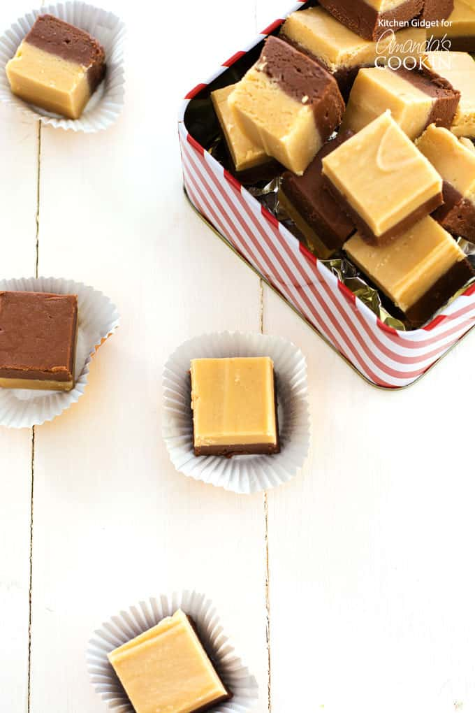 Homemade fudge is perfect for gift giving, and this chocolate peanut butter fudge is a peanut butter lover's dream! Make this fudge recipe for the holidays!