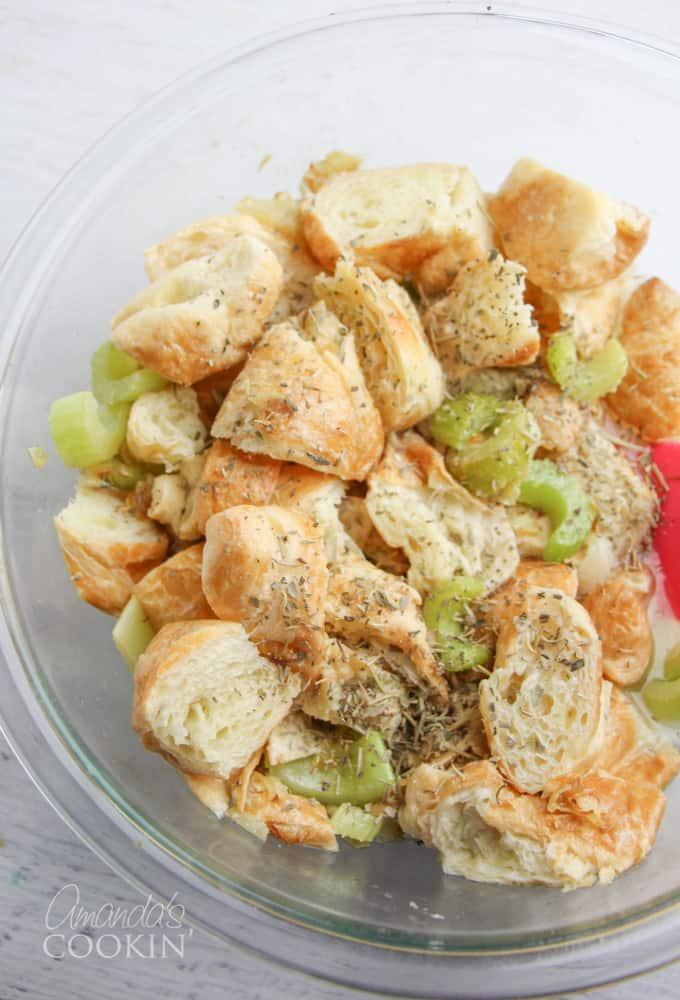 croissant stuffing step 2