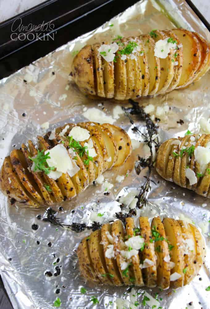 Gorgeous Hasselback potatoes