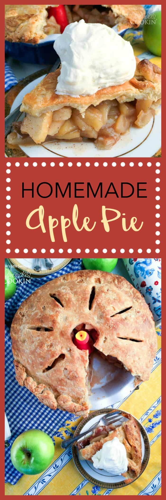 You'll love the smell that comes wafting from the kitchen when this homemade apple pie is in the oven.