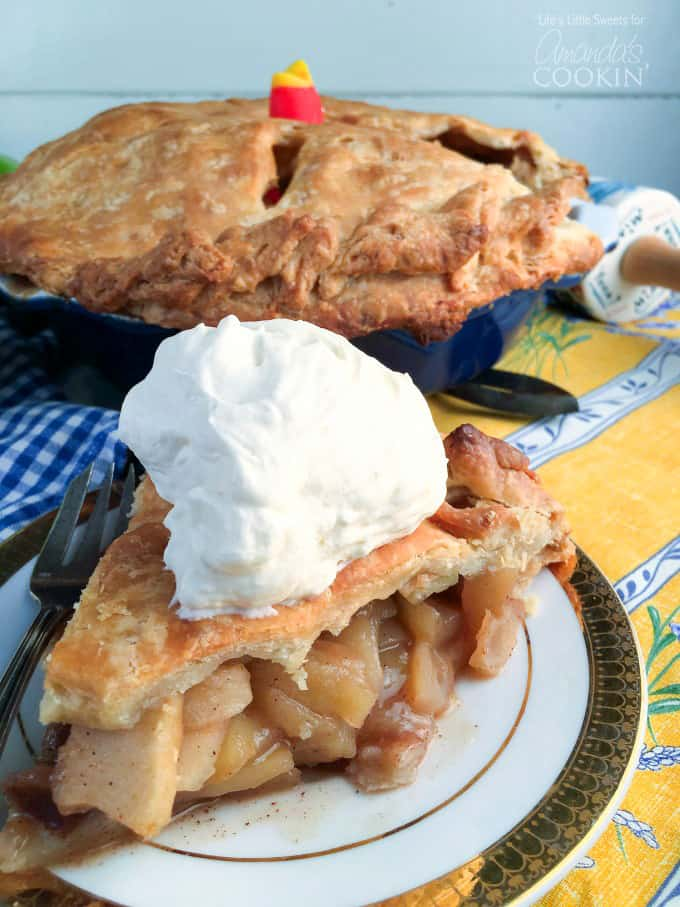 This classic homemade apple pie has an incredible flavor with a buttery, crisp crust one can only dream about.