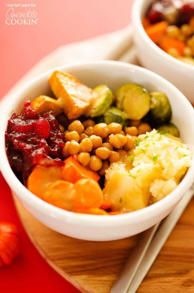 Thanksgiving leftovers bowl