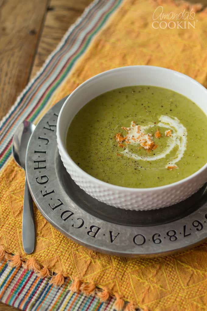 This cream of asparagus soup turned out to be the perfect way for me to use the stalks I was tossing out all the time.