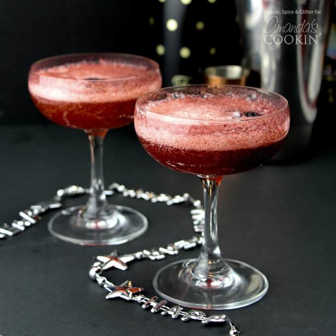 These Champagne Cocktails made with fresh blackberries are the perfect way to ring in the new year!