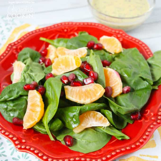 This Pomegranate Clementine Spinach Salad is a bright and fresh winter salad that will change any notion you ever had for seasonal eating.