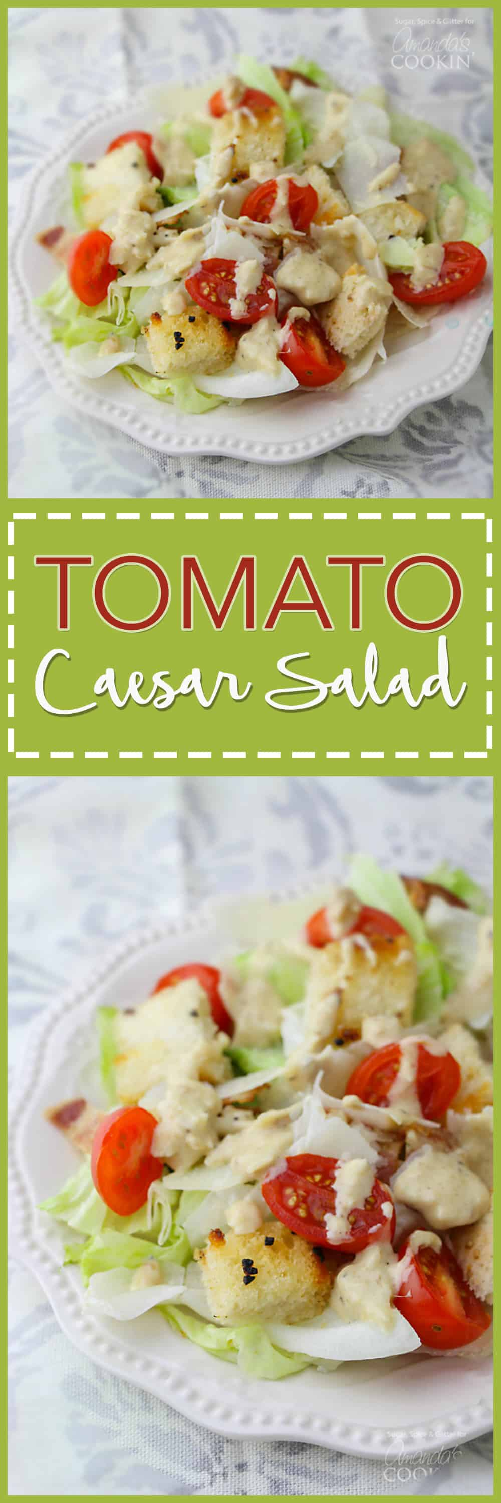 This Tomato Caesar Salad helps you achieve your healthy eating goals in a delicious and sustainable way. Make your own dressing to help with your goals.