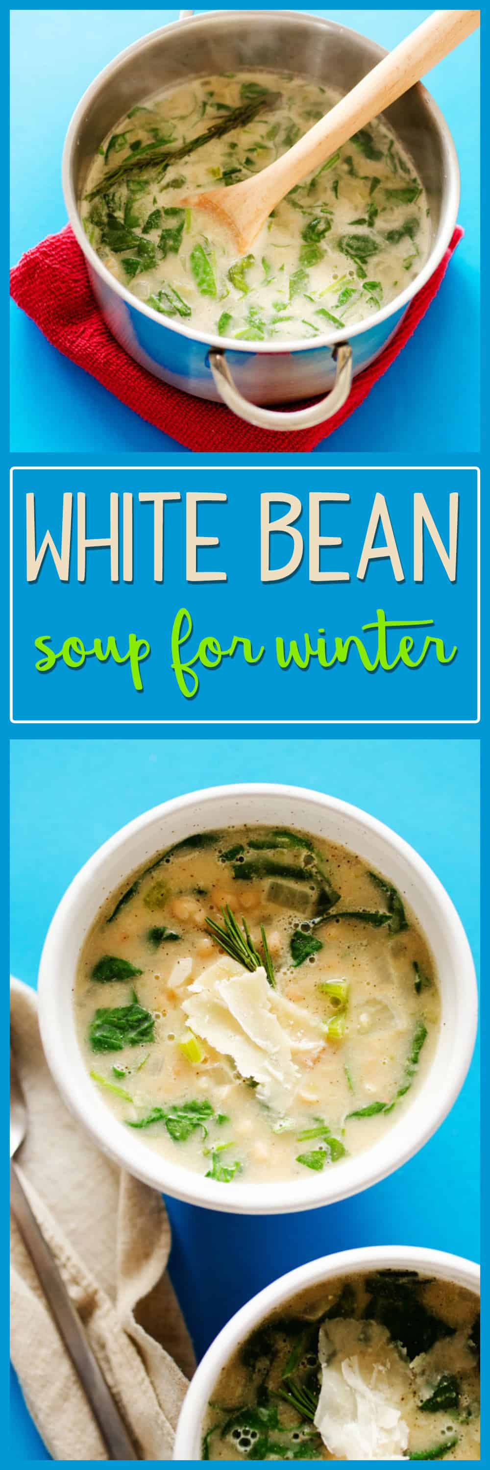 Easy White Bean Soup - definitely one to make! I am looking for all sorts of soup recipes now that the snow is flying. I'll definitely be making this easy white bean soup!
