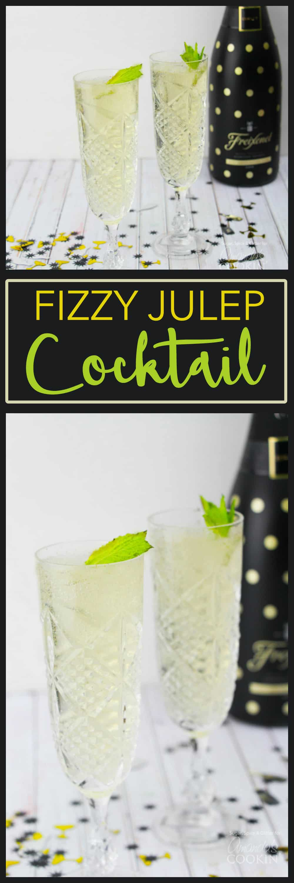 Mint Juleps are celebratory in nature, so kick it up a notch for New Year's with our Fizzy Julep recipe. This champagne cocktail is perfect for New Years!