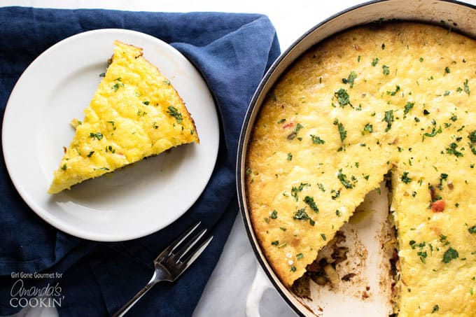 I hope you gather up the ingredients and make this vegetable frittata. Whether you make it for yourself or to share with others don't forget the most important ingredient is love.