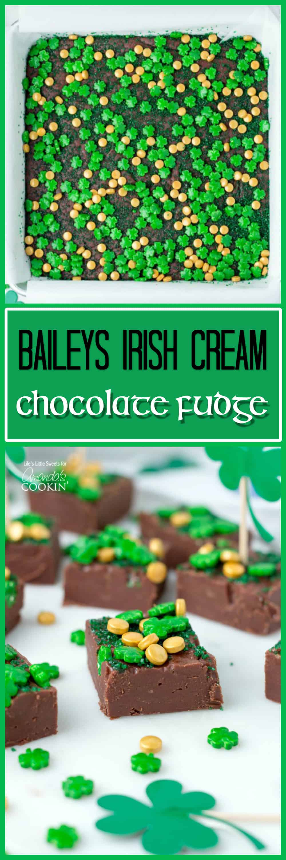 This Baileys Irish Cream Chocolate Fudge is a decadent, flavorful, and rich chocolate fudge recipe infused with Baileys Irish Cream. You'll love this one!