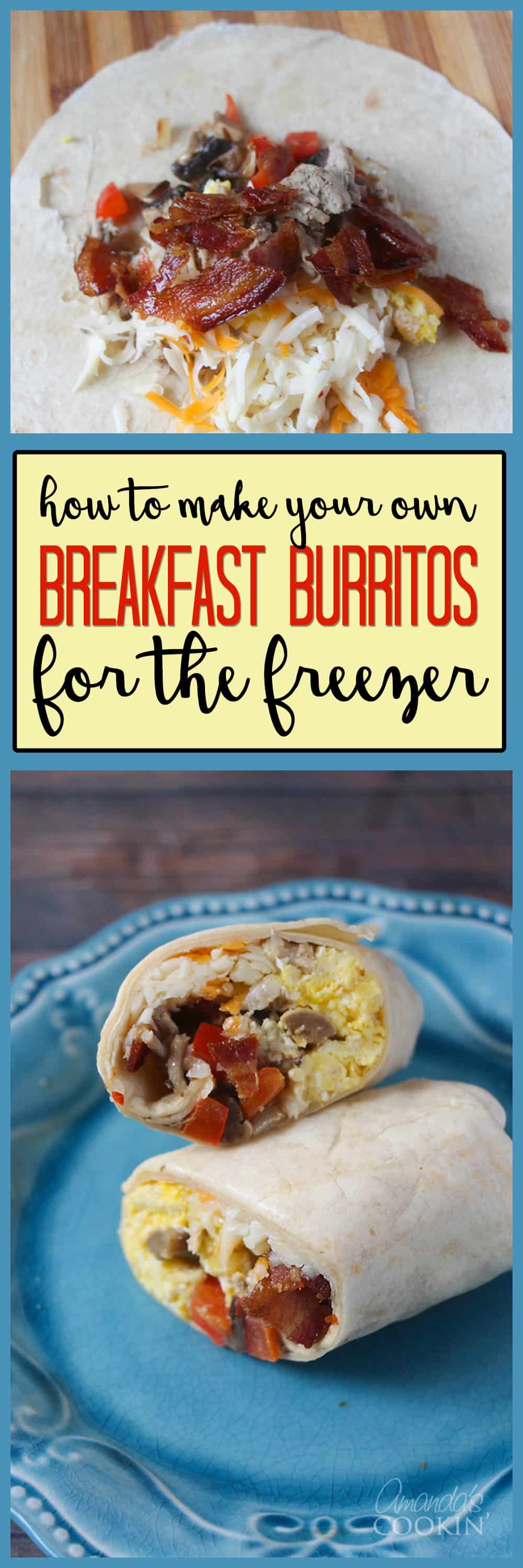 A photo of breakfast burritos on a plate.