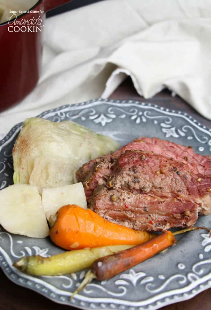 One of my new favorite comfort foods is Corned Beef & Cabbage - it's not something I grew up eating, but it is so incredibly delicious and unique that it has fast become a cold weather favorite.