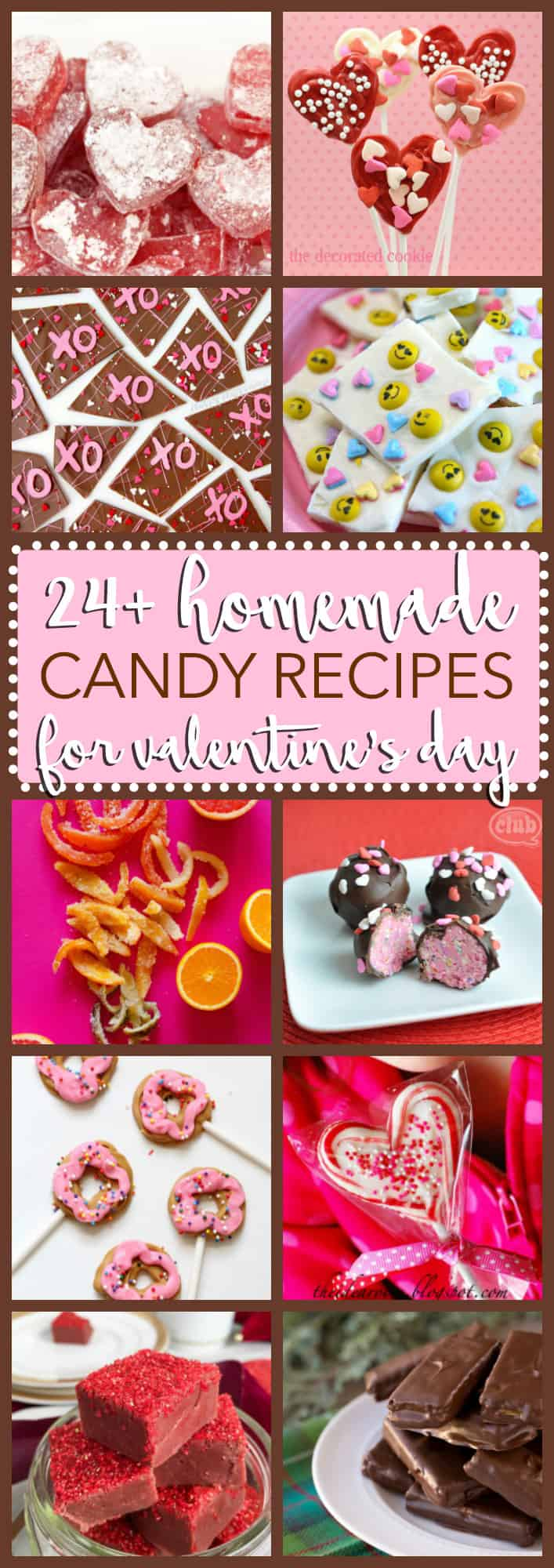 Fudge, chocolate, hard candy, lollipops and more! All sorts of fun homemade candy recipes to help you celebrate Valentine's Day in style.