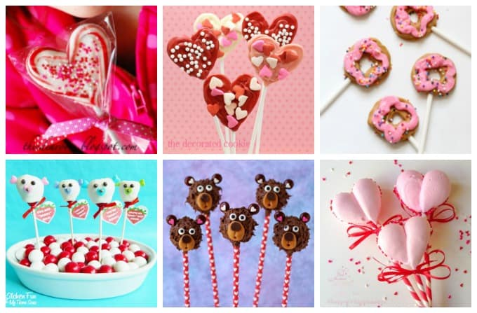 Homemade lollipops and suckers and plenty of other homemade candy recipes for Valentine's Day!