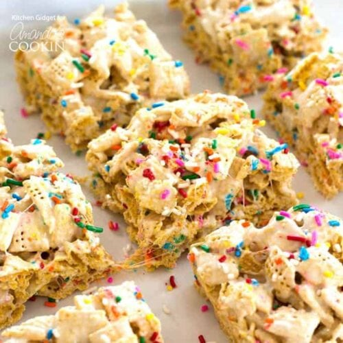 Awe Inspiring Funfetti Marshmallow Cereal Bars A Delicious Treat For Any Occasion Funny Birthday Cards Online Chimdamsfinfo