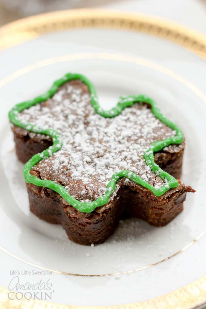 shamrock shaped brownie