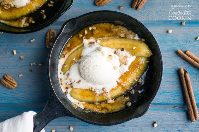 Do you know just how ridiculously easy Bananas Foster is? So easy, you'd be crazy to not make this one! You'd be passing up the opportunity to impress someone, with little effort!