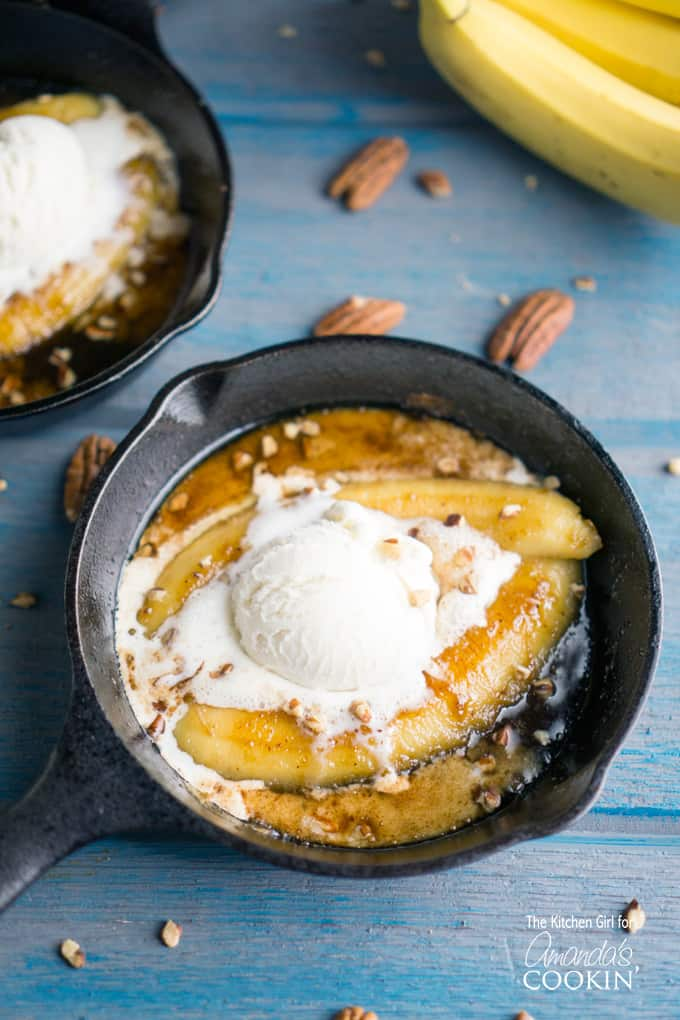 Go big or go home with this decadent, New Orleans-style dessert. Single Serve Bananas Foster is one of the very few recipes where I actually don't try to health-it-up, and I'm all-in on butter, sugar, and ice cream.
