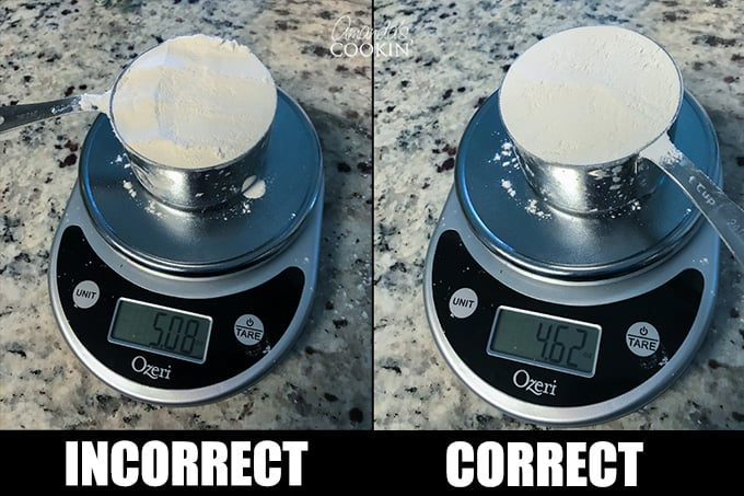 measure flour correctly