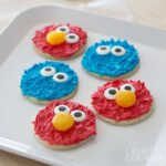 Cookie Monster and Elmo Cookies