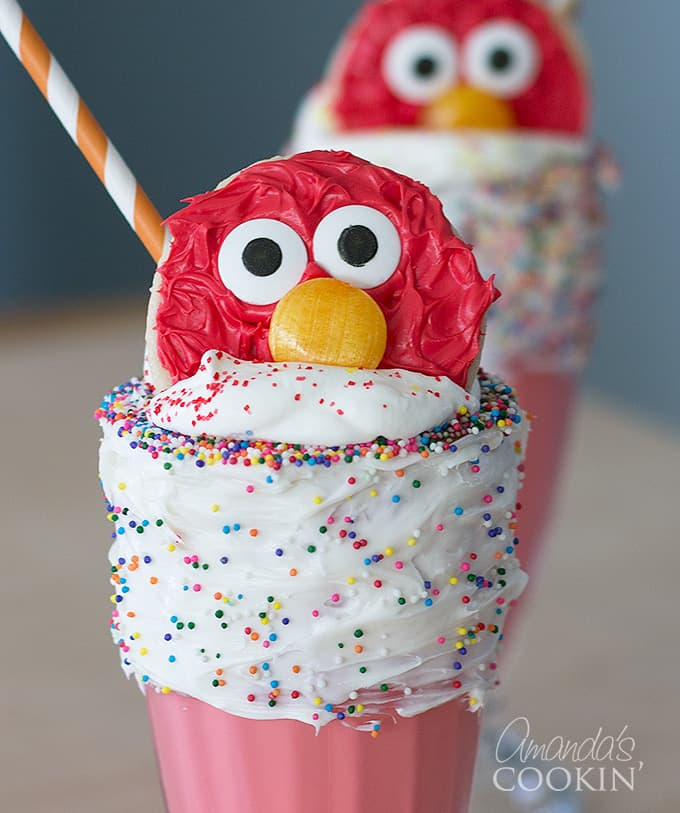 These Elmo Freakshakes make a great birthday party treat!