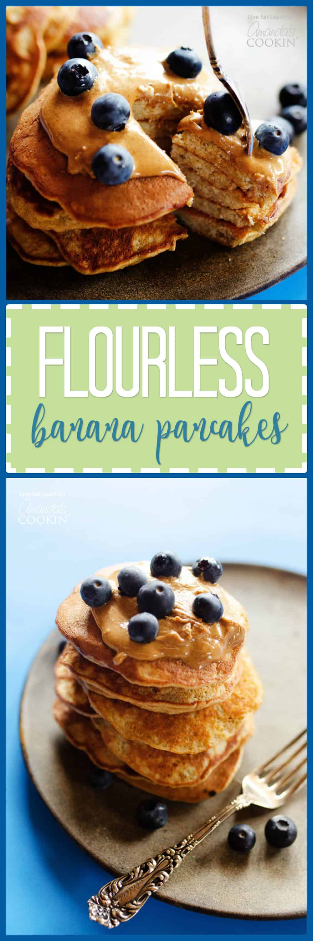 These banana pancakes are packed with protein and taste amazing, but they don't have any flour! Your family will never be able to tell the difference.