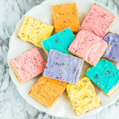 overhead view of sugar cookie bars