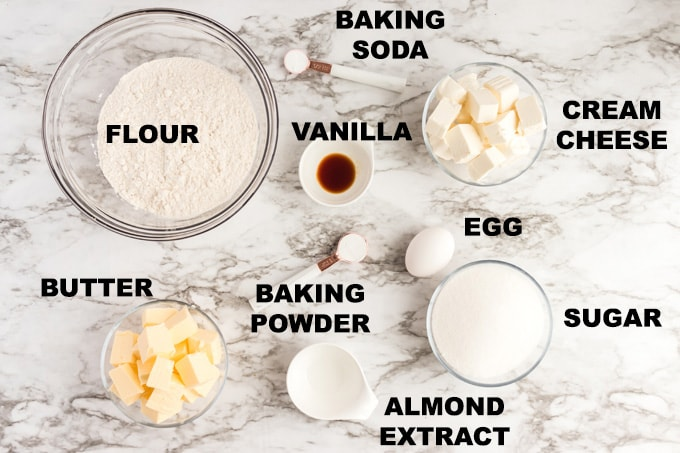 ingredients for frosted sugar cookie bars