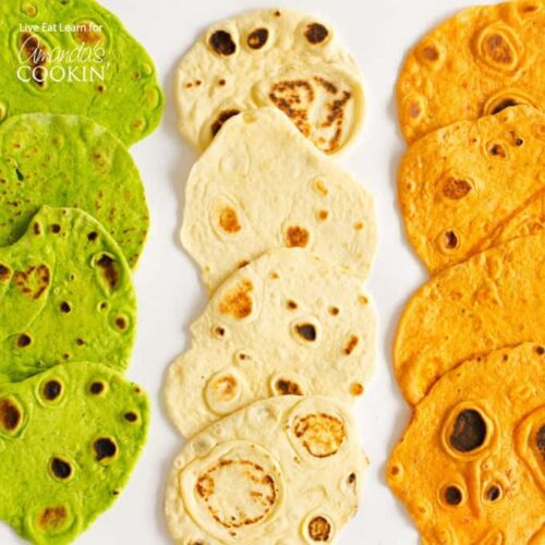 These Flavored Flour tortillas are the easiest, most tender, delicious tortillas ever, in three different mouth-watering flavors!