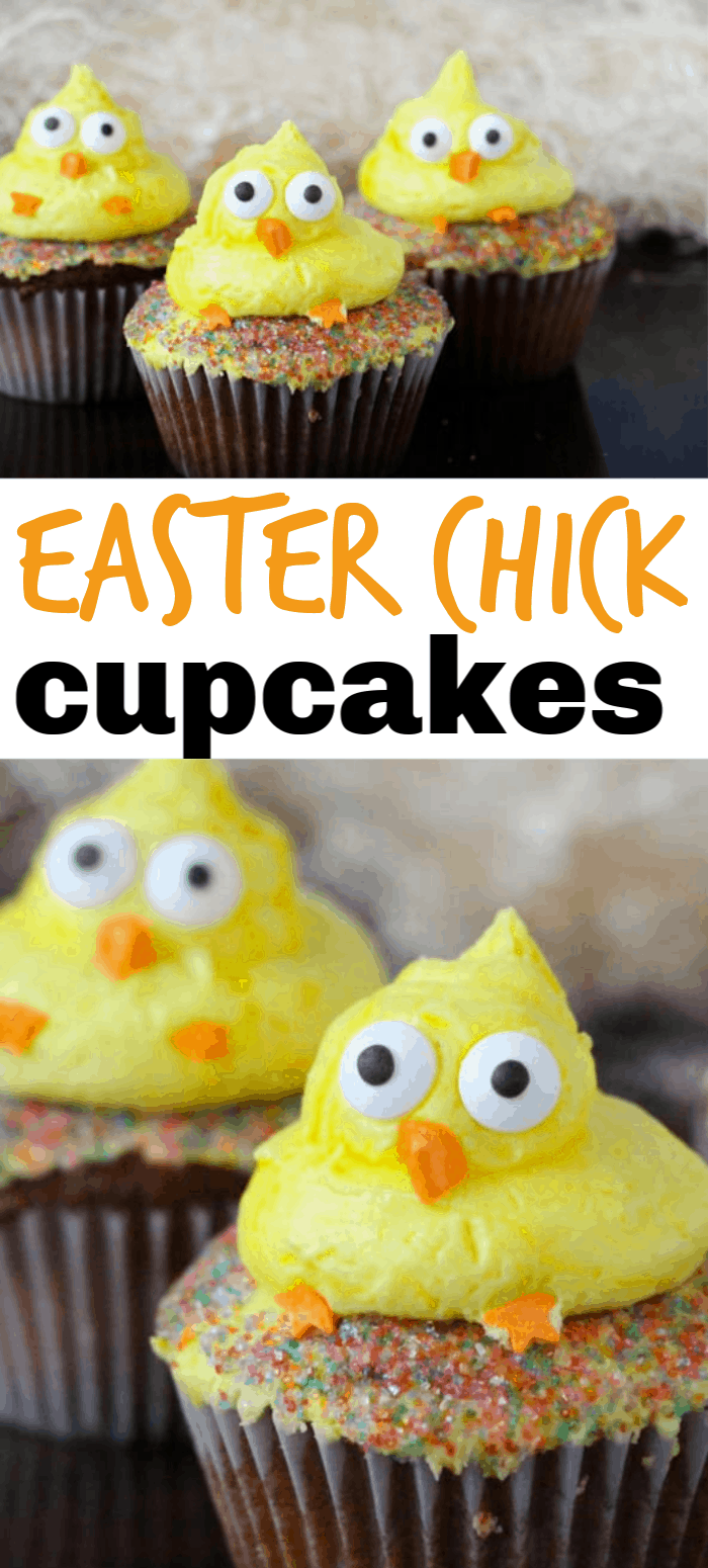 easter click decorated cupcakes