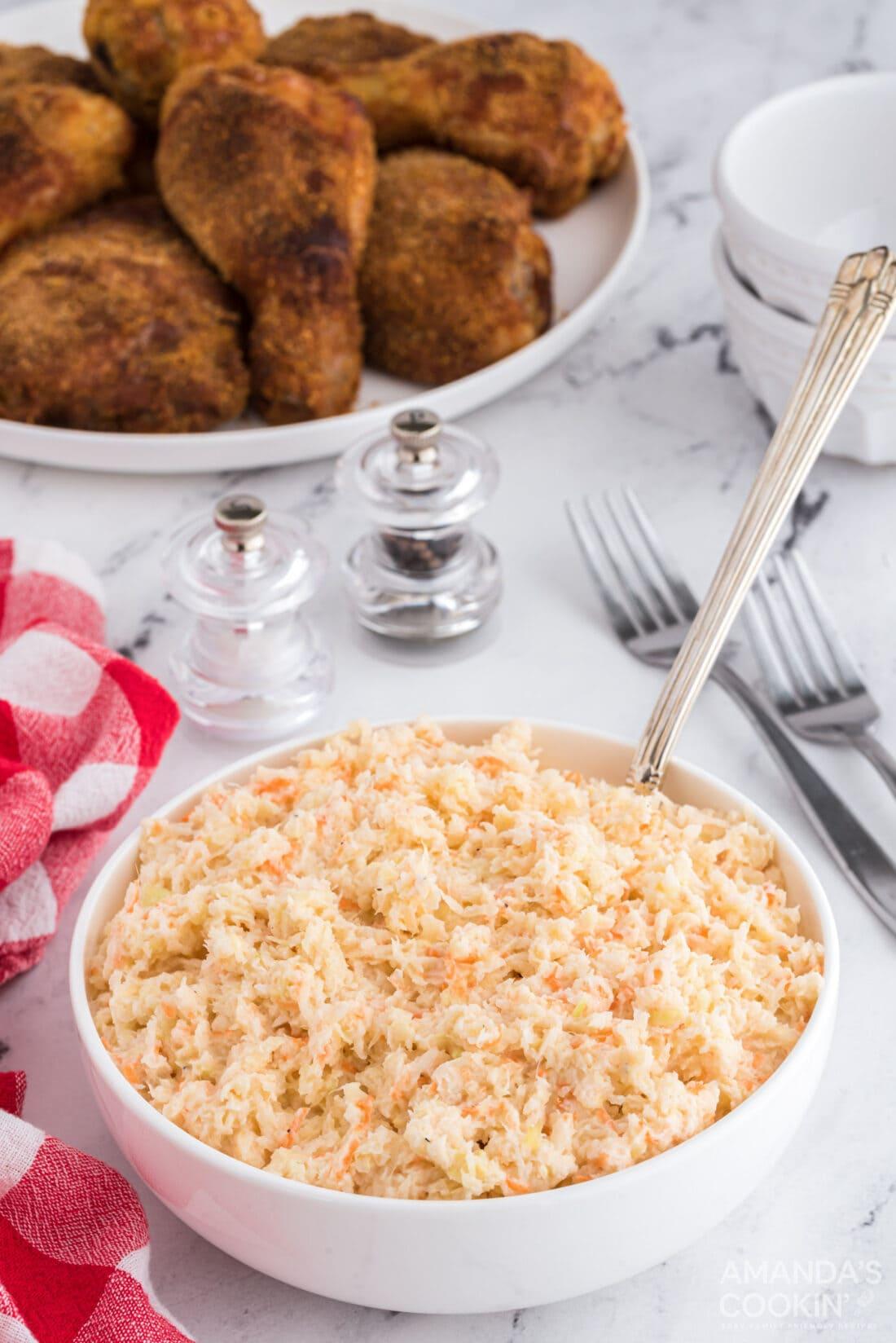 big bowl of diy kfc coleslaw