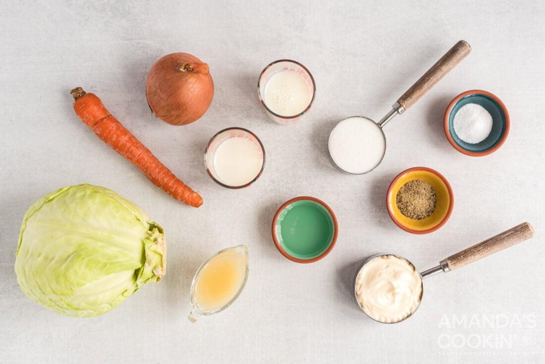 ingredients needed to make kfc coleslaw