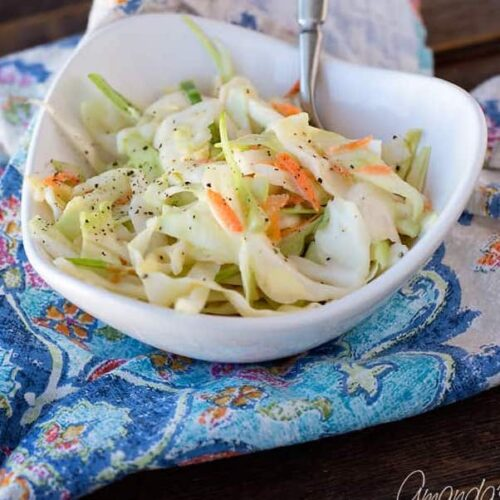 A bowl of coleslaw