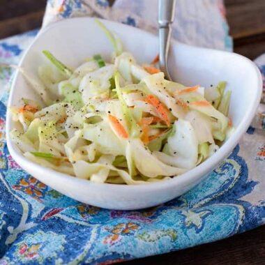 kfc coleslaw in a bowl
