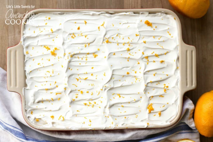 Your guests will be begging for this Lemon Lush recipe ;)