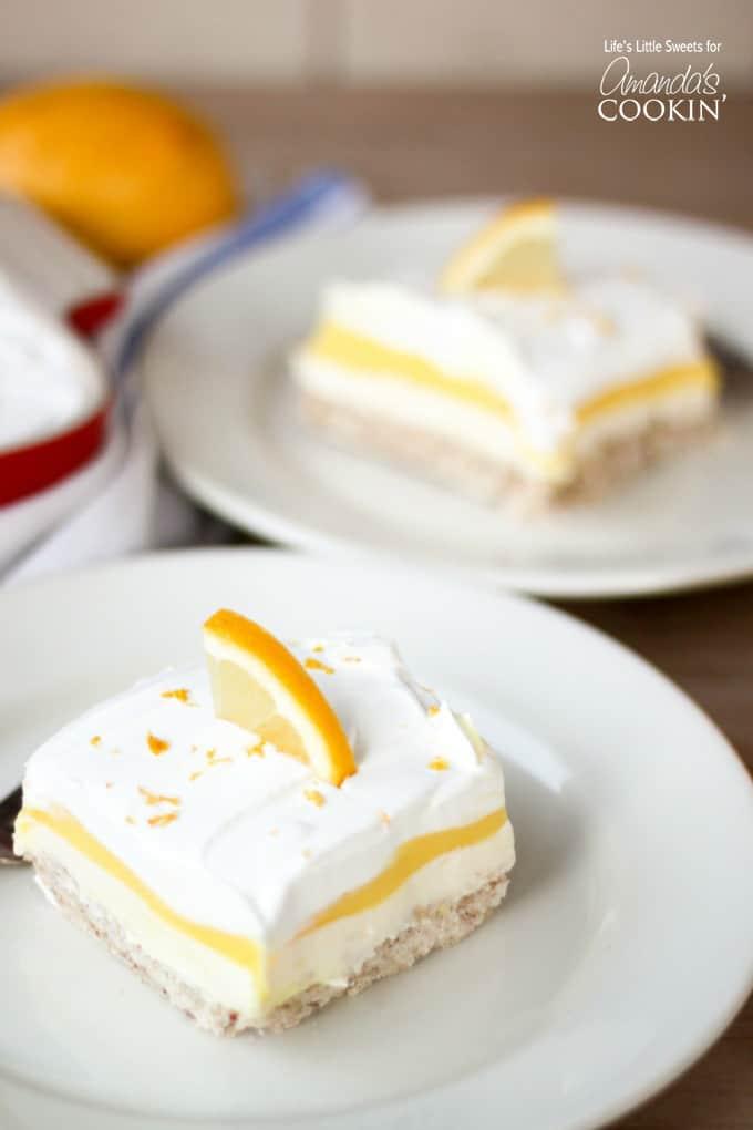 Lemon Lush one-pan dessert recipe