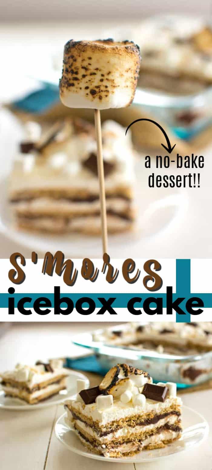 s'mores icebox cake pin image