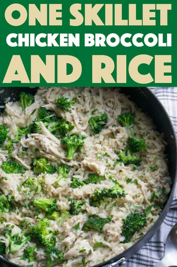 Skillet Chicken, Broccoli & Rice