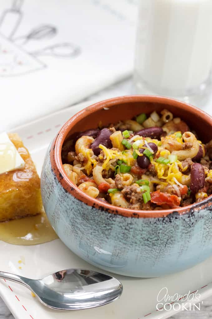 bowl of chili mac